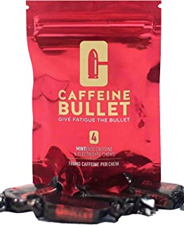 Caffeine Bullet 16 Mint Energy Chews – : 100mg Caffeine Kick, Faster Than Running gels & Caffeine Pills for a pre Workout, mid Race, Cycling, Gaming and Endurance Sports Energy Boost