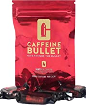 Caffeine Bullet 16 Mint Chews – Exceeds Energy Gels, Caffeine Powder and Gummies. 100mg Caffeine Boost for Gaming, Football, Baseball, Basketball, Running, Cycling and The Gym