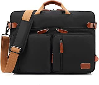 COOLBELL Convertible Backpack Messenger Bag Shoulder Bag Laptop Case Handbag Business Briefcase Multi-Functional Travel Rucksack Fits 17.3 Inch Laptop for Men/Women (Black)