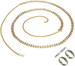 PCM Gold Metal Two Line Belly Chain Kamarband For Women
