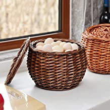 Home Living Museum/Bamboo Basket Bamboo Basket Portable Basket Handmade Bamboo Basket Fruit Basket Egg Basket Kitchen Stor...