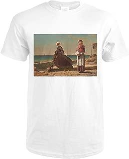 Dad's Coming - Masterpiece Classic - Artist: Winslow Homer c. 1873 57866 (Premium White T-Shirt X-Large)