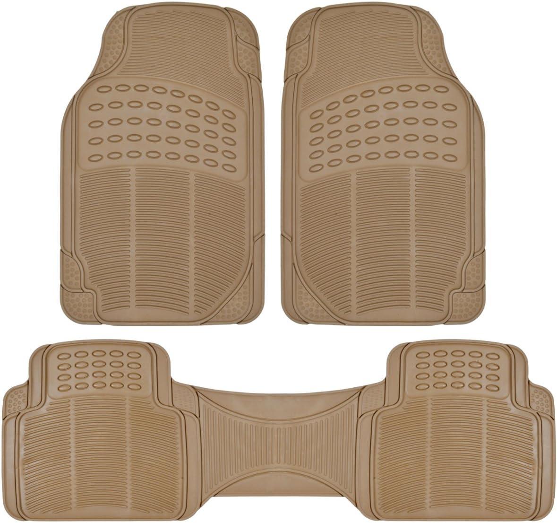 BDK 3pc Brand Cheap Sale Venue Ridged Heavy Duty Rubber Universal MT-7 Max 51% OFF Mats Fit Floor