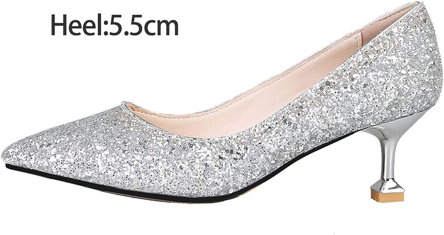 FINDYOU Women Wedding shoes High Heels Bling Woman Bridal shoes Glitter Pumps Ol Office Lady shoes