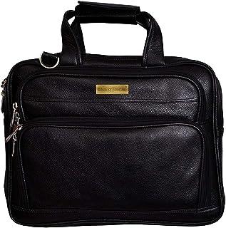 "BAG JACK -""Arcturus"" | Handcrafted | Natural Grain Leather | Men Office Bag | Leather Laptop Bag | Laptop size - 15.6/17 inch"