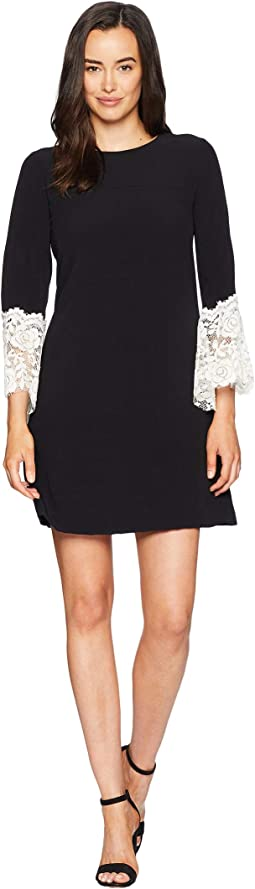 Sheath Dress with Lace Detail on Sleeve