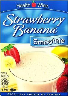 HealthWise Strawberry Banana Smoothie, (7 Packets of 0.93 Oz., Net 6.54 Oz.)