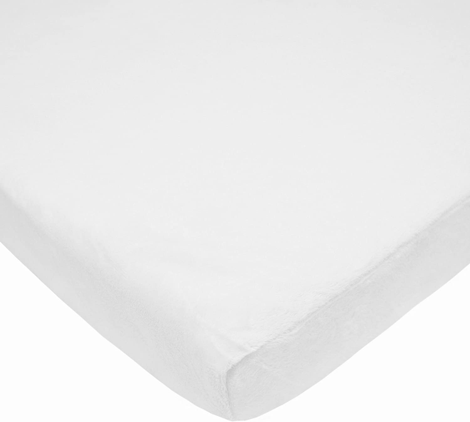 American Baby Company Heavenly Soft Chenille Fitted Pack N Play Playard Sheet, White, 27 x 39