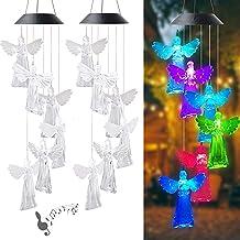 Angel LED Windgong Outdoor, Waterdichte Veranderende Kleuren Solar Windgong Voor Home Garden Outdoor Decor, Hummingbird Ca...