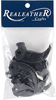 Realeather Crafts BBC02-06 Plastic Bear Claws, Black, 6-Pack
