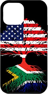 iPhone 12 Pro Max South Africa Roots African Born Family American US Flag Gift Case
