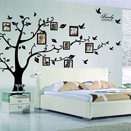 X-Large DIY Family Tree Wall Art Stickers Removable Vinyl Black Trees Photo  Frames Wall 66d1720ce