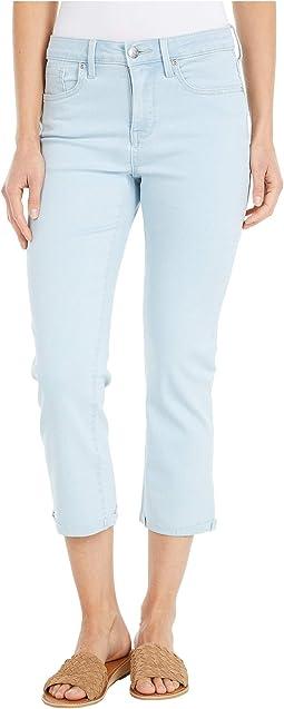 Chloe Capri Jeans with Raw Cuffs in Valhalla