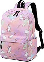 Searock School Backpacks for Girls Casual Printed Pattern School Bag Unicorn Gradient