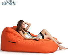 Ambient Lounge Satellite Twin Sofa Designer Bean Bag with Filling in Desert Sunset Outdoor Fabric