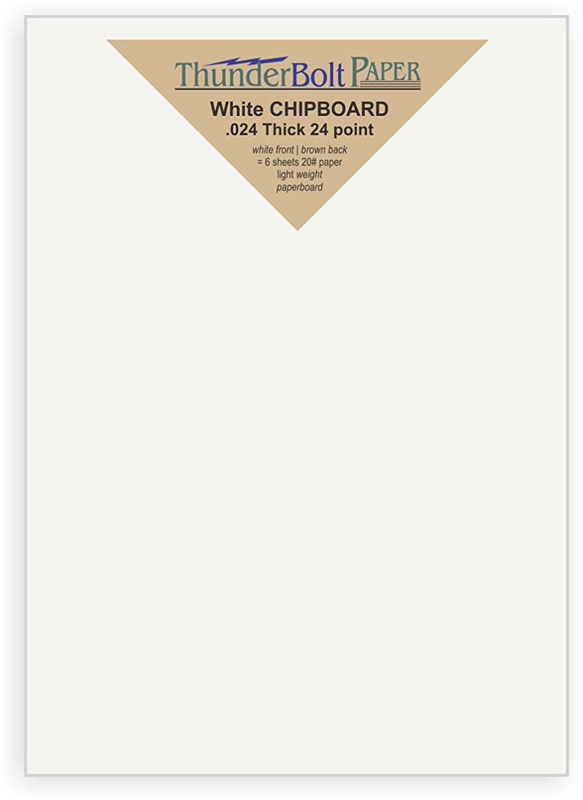 25 Sheets Chipboard 24pt White 1 Side - 5