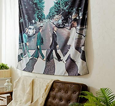 """Koongso The Beatles Wall Hanging Tapestry Hippie Handicraft Decoration Beach Blanket for Bedroom Dorm Decor 51"""" W x 60"""" L"""