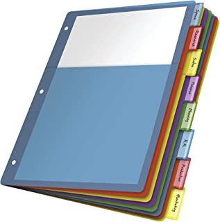 Cardinal seule Poche Poly Intercalaires, 8-tab, Lettre Taille, Multicolore (84017)