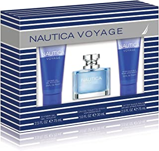 Nautica Voyage 3 Piece Gift Set (1.0 Eau De Toilette Plus 2.5 Shower Gel Plus 2.5 Ounce Aftershave Balm)