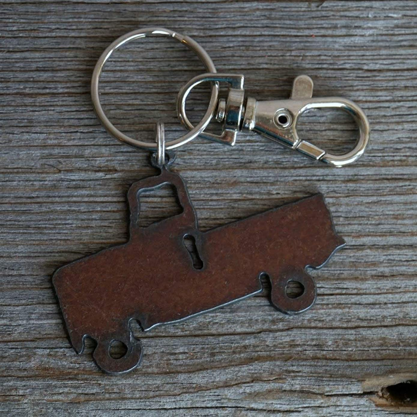 Pickup Truck Keychain ~ Rustic Keyring, Farm Key Chain Gift for Him