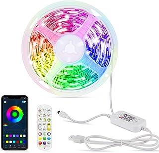 Hoteril taśma LED, 6 m, Bluetooth, pilot zdalnego sterowania i sterowanie aplikacją, funkcja timera, taśma LED z 16 milion...