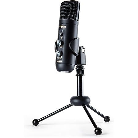 Marantz Professional MPM-4000U – Micrófono de condensador USB con mezclador y toma de auriculares para pódcasts, streaming, juegos, YouTube