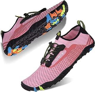 ECOTISH Unisexe Plong/ée Chaussures Respirants S/échage Rapide Semelles Color/ées pour Nager Tous Les Sports Plage et deau pour Femmes Hommes