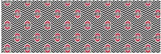 NCAA Ohio State Buckeyes Chevron Design Soft Voile Scarf, One Size,Black