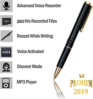 [TC] 16GB Digital Voice Recorder for Students - [Bonus Value] Easy to Use - Voice Activated Mini Recorder- Long Battery Life - MP3 Playback On The Go- Ultra Light - Durable