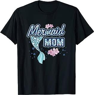Mermaid Mom Squad Matching Birthday Party Mermom Gift T-Shirt