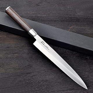 Couteau à sashimi 24cm 27cm Sushi Couteau de cuisine Allemagne 1,4116 japonais en acier inoxydable Couteaux Sashimi Yanagi...