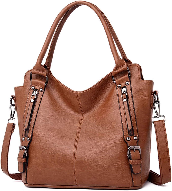 Jessieco Large Capacity Women Bag Soft Leather Handbag Tote Shoulder Travel Crossbody Bag