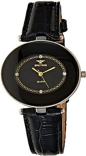 Spectrum Women' s Black Leather Band Watch - 93444LL-3