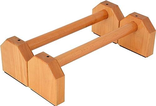 PreGymnastic Wooden Parallettes (Set of 2), for Gymnastics, Handstand,Pushups