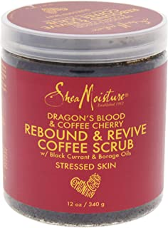 Shea Moisture Dragon's Blood & Coffee Cherry Rebound & Revive Scrub for Unisex, 12 Ounce