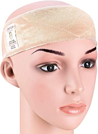 Dreamlover Elastic Wig Grip Headband, Adjustable Non Slip Velour Thin Wig Scarf Hat Grip Band, Perfect for Keeping Wigs from Slipping (Nude)