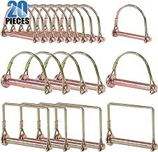 Glarks 20Pcs Heavy Duty PTO Pin Assortment Kit for Farm Trailers Wagons Lawn Garden