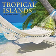 Tropical Islands 2018 12 x 12 Inch Monthly Square Wall Calendar with Foil Stamped Cover by Plato, Scenic Travel Tropical Photography