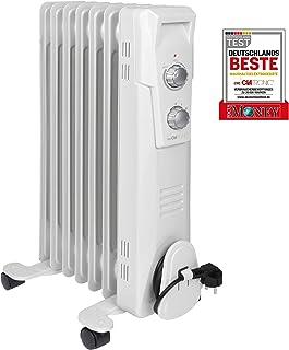 Clatronic RA 373x - Radiador de Aceite (radiador móvil) 1500 W, 7 Aletas. Blanco