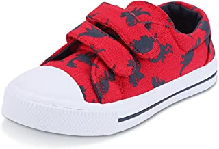 Toddler Sneakers for Boys and Girls Cartoon Dual Hook and...