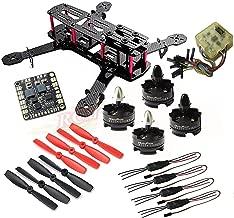 Hobbypower Unassembled DIY 250 Mini 250mm Quadcopter Frame Kit T2204 2300KV Motor +BLHeli 12A ESC + CC3D FC Flight Controller +5045 Props Propeller
