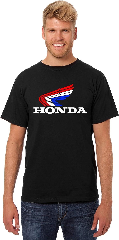 JH Design Honda T-Shirt Classic Red White /& Blue Logo Mens Crewneck T-Shirt