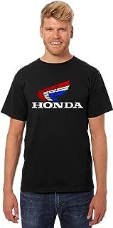 JH Design Honda T-Shirt Classic Red White & Blue Logo Mens Crewneck T-Shirt