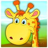 Libro da colorare carino giraffa