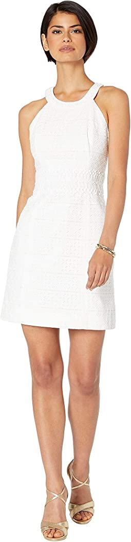 Resort White Striped Eyelet