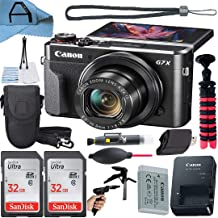 $599 » Canon PowerShot G7 X Mark II Digital Camera 20.1MP Sensor with 2 Pack SanDisk 32GB Memory Card, Case, Tripod and A-Cell Ac...
