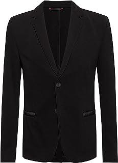 HUGO Mens Agaltus213J1 Extra-Slim-fit Jacket with Tonal Contrasts