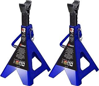 VTOOLS 3 Ton Adjustable Car Jack Stands,2 Piece Set,VT2111