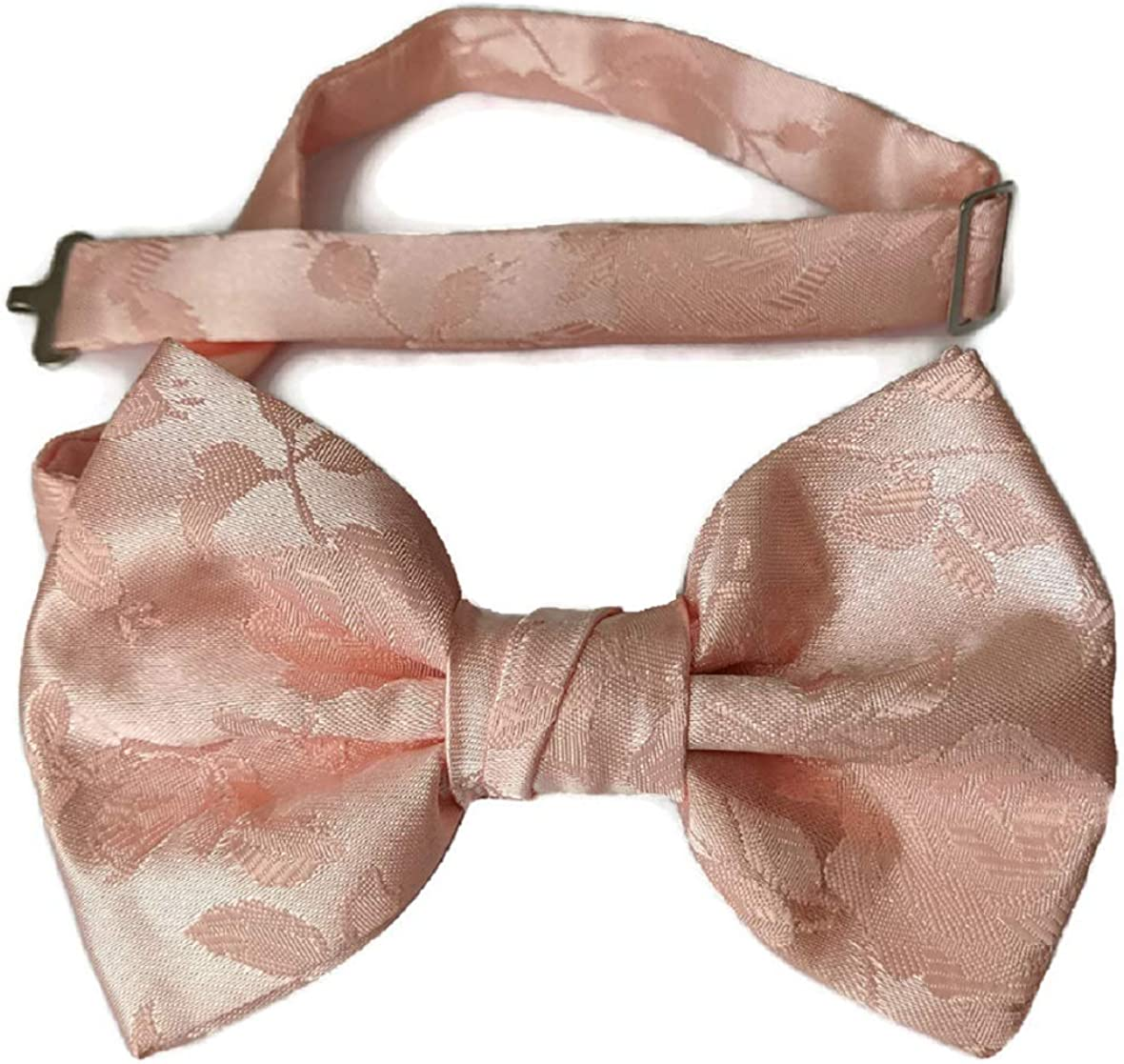 Holiday Bow Ties Mens Pre-tied Long Beach Mall Satin Rose Jacquard lowest price Handm Tie