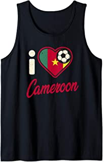 Cameroonian Football Shirt Cameroon Flag Football Soccer Tank Top